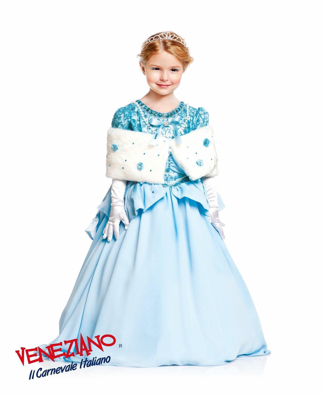 49ea1e402e strój karnawałowy dla dziewczynki - strój niebieskiej księżniczki